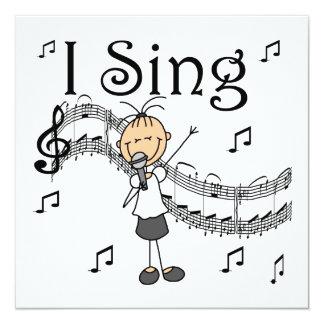 Strichmännchen-Mädchen singe ich T-Shirts und Ankündigung