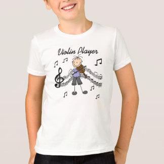 Strichmännchen-Mädchen-Violinen-Spieler-T - Shirts