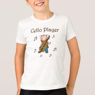 Strichmännchen-Mädchencello-Spieler-T - Shirts und