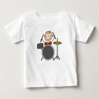 Strichmännchen-männliche Schlagzeuger-T - Shirts