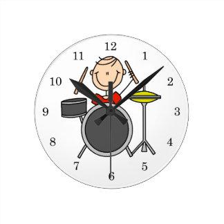 Strichmännchen-männliche Schlagzeuger-T-Shirts und Uhren
