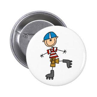 Strichmännchen-Rollen-Skaten Button