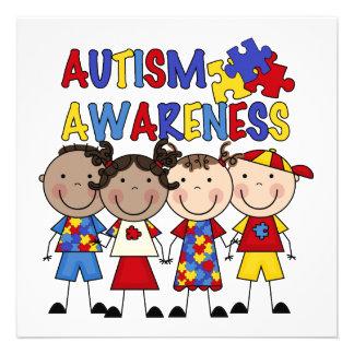Strichmännchen scherzt Autismus-Bewusstsein Personalisierte Einladungen