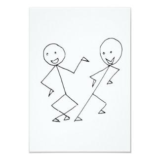 Strichmännchen-Tanzen 8,9 X 12,7 Cm Einladungskarte