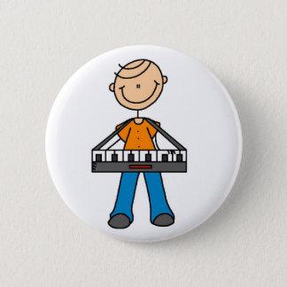 Strichmännchen-Tastatur-Knopf Runder Button 5,7 Cm