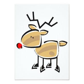 Strichmännchen-Weihnachtsren 12,7 X 17,8 Cm Einladungskarte