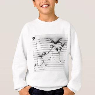 Strichmännchen-Zeichnen des Hängens an den Linien Sweatshirt