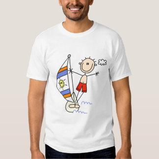 Strichmännchenparasailings-T-Shirts und Geschenke Tshirt