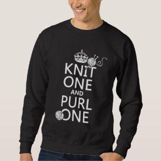 Strick einer und Schraubendraht einer Sweatshirt