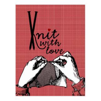 Strick mit Liebe: Kreatives motivierend Postkarten
