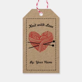 Strick mit Liebe-/Sorgfalt-Anweisungen • Handwerk Geschenkanhänger