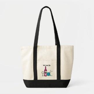 Strick und Sip Einkaufstaschen