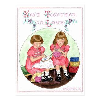Strick zusammen in der Liebe-Inspirational Postkarte