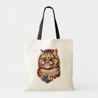 Strickende Katzen-Budget-Taschen-Tasche Budget Stoffbeutel