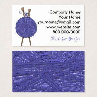 Strickendes Geschäft Visitenkarte