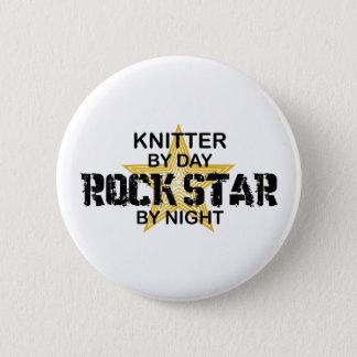 Stricker-Rockstar bis zum Nacht Runder Button 5,7 Cm