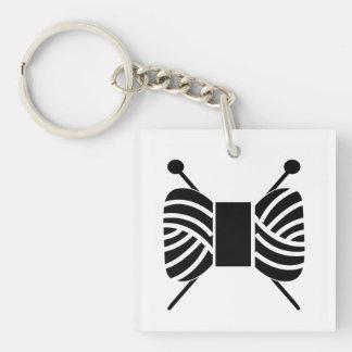Stricknadeln u. Garn-Strang-Handwerk Schlüsselanhänger