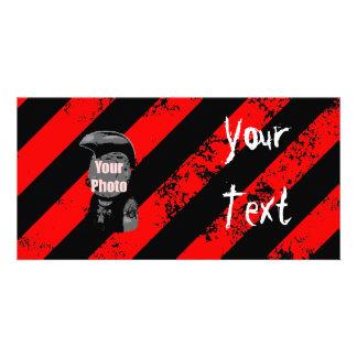 Stripes Punk/Anarchist cracked Bildkarten