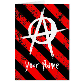 Stripes Punk/Anarchist cracked symbol Karte