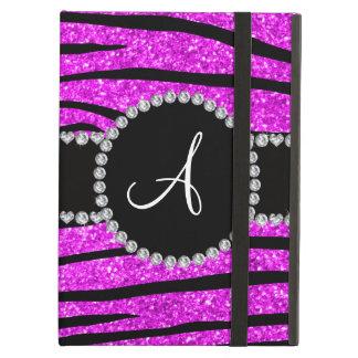 Stripes rosa Neonzebra Glitter des Monogramms