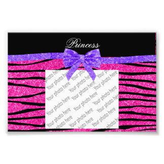 Stripes rosa Zebra Glitter Prinzessin lila Bogen Fotodrucke