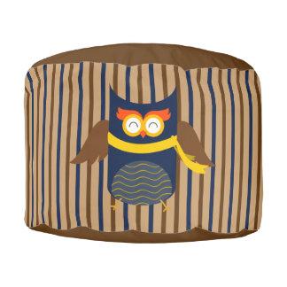 Stripey Eulen-starker gesponnener Polyester-runder Hocker