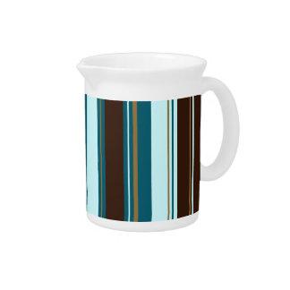 Stripey vertikale Entwurfs-Brown-Knickenten Creme Getränke Pitcher
