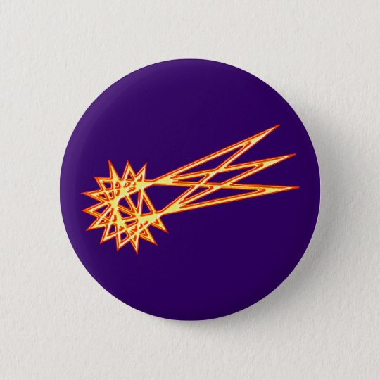 Stroh Stern Komet straw star comet Runder Button 5,1 Cm