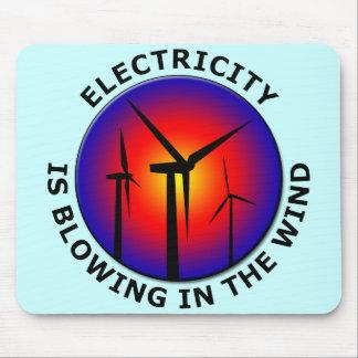 Strom brennt im Wind durch Mousepad