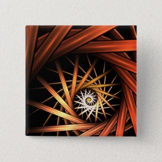 Strom-Fraktal Quadratischer Button 5,1 Cm