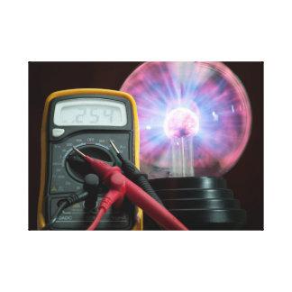 Strom-Kontrolle Leinwanddruck