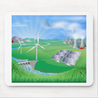 Strom- oder Powergenerationsmethoden Mauspad