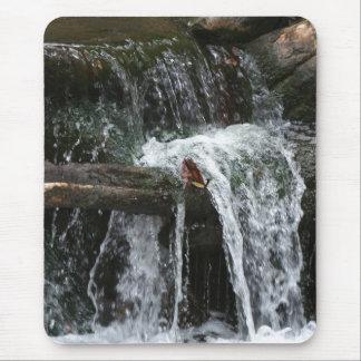 Strom-Wasserfall-Nebenfluss-Holz-Natur-Fotografie Mousepad