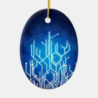Stromkreis-Bretttechnologie Ovales Keramik Ornament