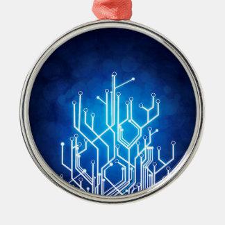 Stromkreis-Bretttechnologie Rundes Silberfarbenes Ornament