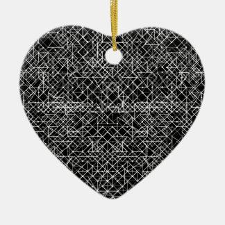 Stromkreis Schwarzweiss Keramik Herz-Ornament