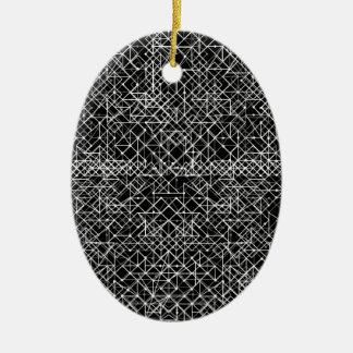 Stromkreis Schwarzweiss Ovales Keramik Ornament