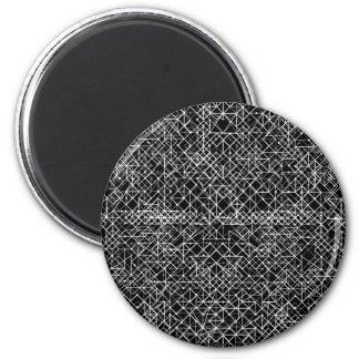 Stromkreis Schwarzweiss Runder Magnet 5,7 Cm