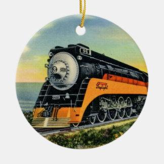 Stromlinienförmige Dampf-Lokomotive Keramik Ornament
