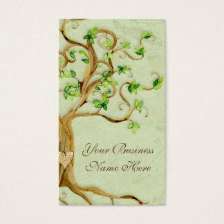 Strudel-Baum wurzelt antikes berufliches Geschäft Visitenkarte