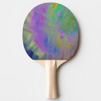 Strudel-buntes metallisches Klingeln Pong Paddel Tischtennis Schläger