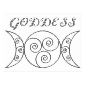 Strudel-dreifaches Göttin-Symbol Postkarte