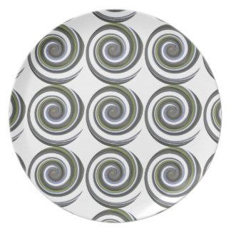 Strudel entwarf Platte Teller