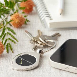 Strudel-Schlüsselring mit Reitslogan Schlüsselanhänger
