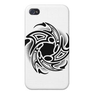 Strudel-Stammes- Tätowierungs-Entwurf iPhone 4/4S Cover