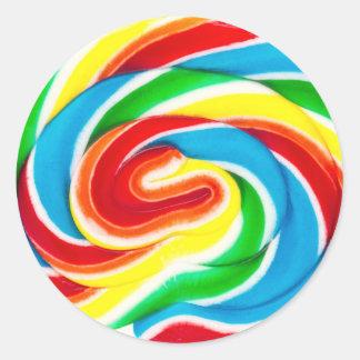 Strudellutscher-Süßigkeitsaufkleber Runder Aufkleber