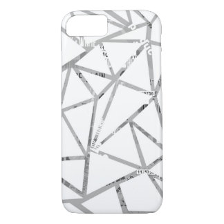 Struktur der Dreiecke mit einer Collage des iPhone 8/7 Hülle