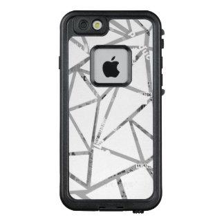 Struktur der Dreiecke mit einer Collage des LifeProof FRÄ' iPhone 6/6s Hülle