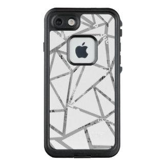 Struktur der Dreiecke mit einer Collage des LifeProof FRÄ' iPhone 8/7 Hülle