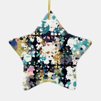 Strukturelle Kreise abstrakt Keramik Stern-Ornament